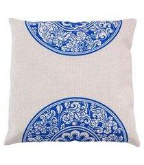 capa de almofada hong kong cor: azul - tamanho: único