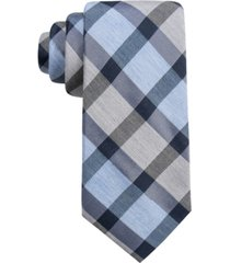 ryan seacrest distinction men's besalu plaid slim tie, created for macy's