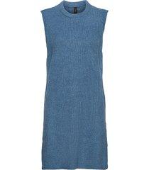 yaszal long waistcoat d2d vests knitted vests blå yas