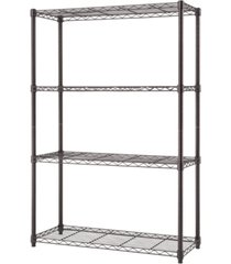 trinity nsf 4-tier indoor wire shelving rack