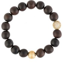 nialaya jewelry wooden bead bracelet - brown