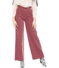 pantalón pepe jeans rosa - calce holgado