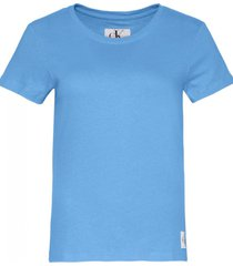 remera azul calvin klein core slim t-shirt