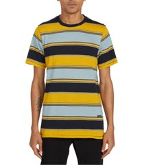 volcom men's chromatic striped short sleeve knit shirt