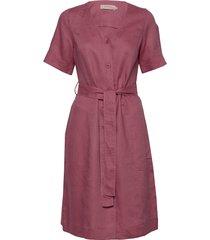 dress short sleeve knälång klänning rosa noa noa