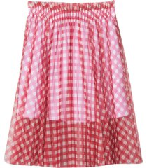 philosophy di lorenzo serafini checkered midi skirt