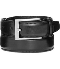"alfani men's 1 1/4"" feather edge stitch dress belt"
