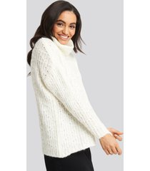 trendyol turtleneck knitted sweater - white