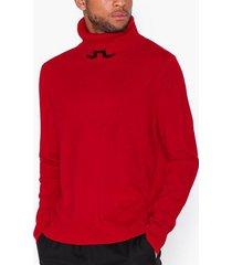 j lindeberg laszlo-light cashmere tröjor red