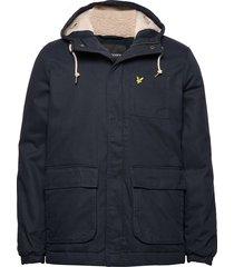wadded jacket parka jas blauw lyle & scott