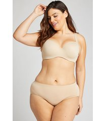 lane bryant women's level 1 smoother hipster panty 22/24 shadow stripe cafe mocha