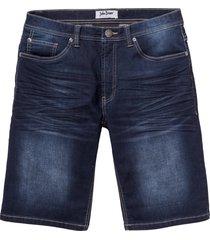 bermuda in jeans elasticizzati regular fit (blu) - john baner jeanswear