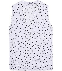 blusa para mujer pepas color blanco, talla l