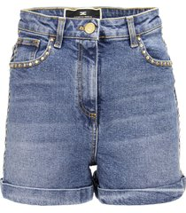 elisabetta franchi high-waisted mini shorts