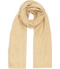 basket cashmere knit shawl