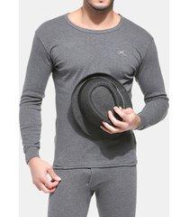 completo in cotone caldo idoneità sottile warm innerwear pure color winter mutandoni sets