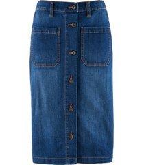 gonna di jeans elasticizzata con cinta comoda (blu) - bpc bonprix collection