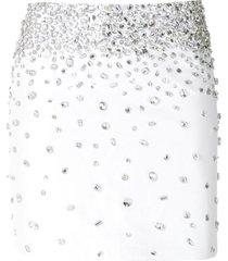 andrea bogosian sinah leather mini skirt - white