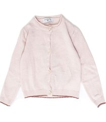 monnalisa pink wool and cashmere blend cardigan