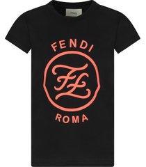 fendi black girl t-shirt with logo