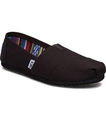 black/black canvas loafers låga skor svart toms