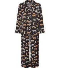 satin pajama set pyjamas svart banana republic