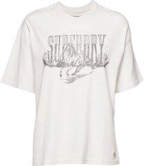 boyfriend band graphic tee t-shirts & tops short-sleeved vit superdry