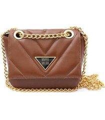 bolsa maria milão mini bag metalassê alça transversal corrente feminina
