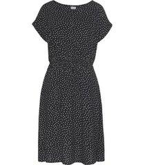 korte jurk lascana zomerjurk met korte mouwen black and white