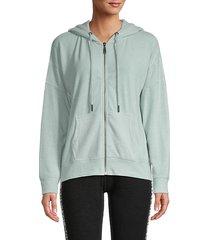 hacci front-zip hoodie