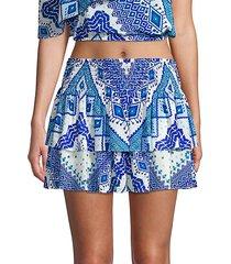 sibyl print ruffle skirt