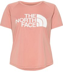 w grap play hard s/s t-shirts & tops short-sleeved rosa the north face