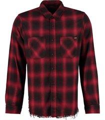 amiri check print cotton shirt