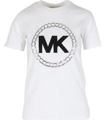 michael kors elv ht chain logo t-shirt