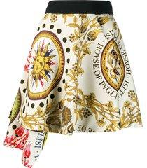 sun printed asymmetric mini skirt