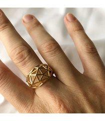 pierścionek 3d - złoto
