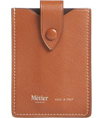 women's metier london small leather card case - brown