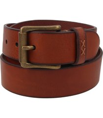men's frye flat panel leather belt, size 34 - cognac