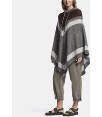 loose stitch wool cashmere poncho