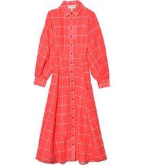 liliana dress in white/red