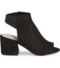 hannon perforated suede shooties