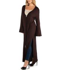 24seven comfort apparel womens long sleeve maxi length plus size cardigan