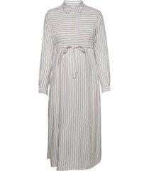mlalanya l/s woven midi dress a. dresses shirt dresses grå mamalicious