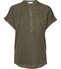 dhfiona ss blouse blouses short-sleeved grön denim hunter