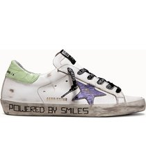 golden goose deluxe brand sneakers super star gwf00101.f000983 colore bianco