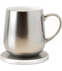 ohom kopi mug & warmer set, size one size - metallic