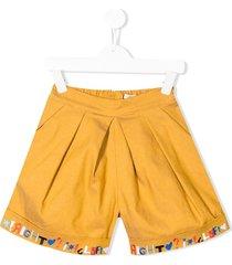 raspberry plum alora oversized shorts - yellow