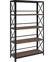 industrial five tier bookshelf