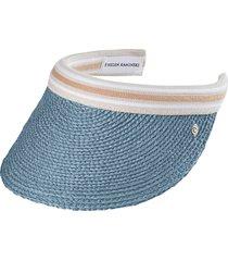 helen kaminski 'bianca' visor in cornflower/nougat stripe at nordstrom