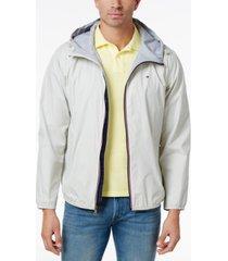 tommy hilfiger men's zip-front hooded windbreaker